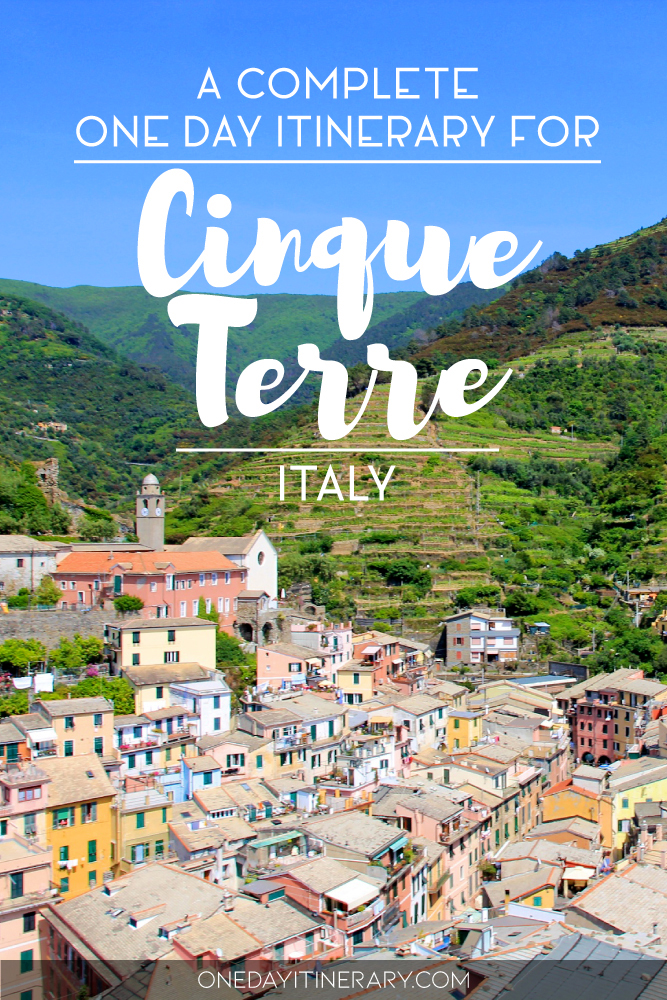 A complete one day itinerary for Cinque Terre, Italy