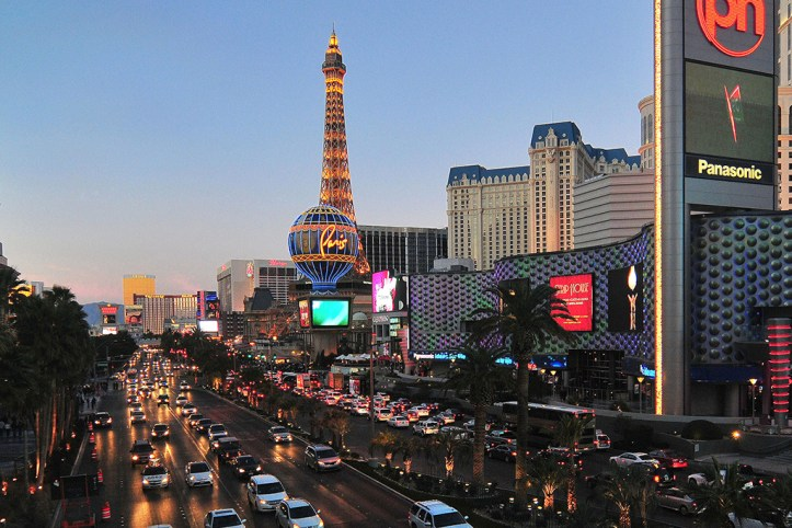 Las Vegas Strip at sunset