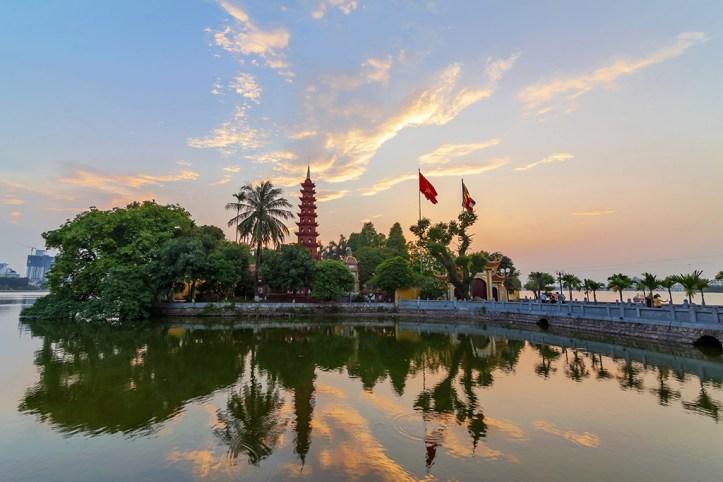 Hanoi at dusk