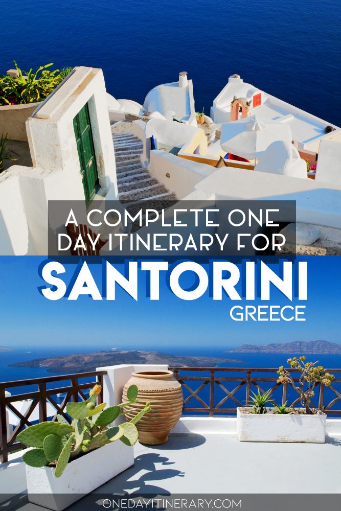 A complete one day itinerary for Santorini, Greece
