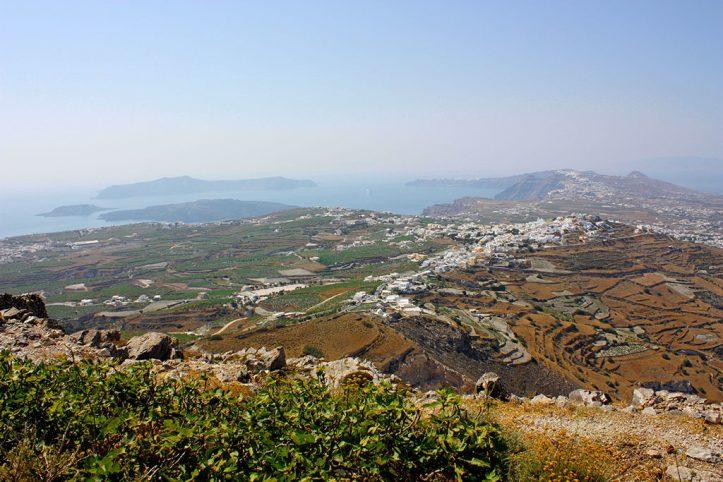 View from Mt Profitis Ilias