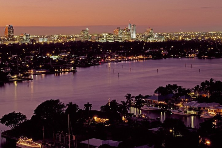 Fort Lauderdale at night