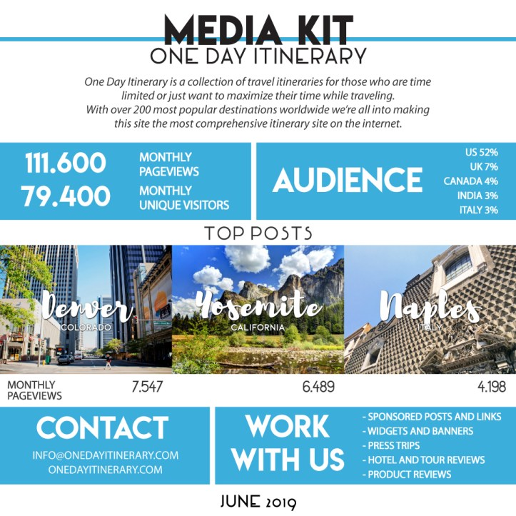 One Day Itinerary - Media Kit - June 2019