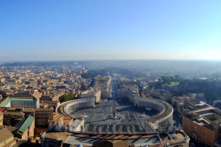 View from St Peter_s Basilica, Rome