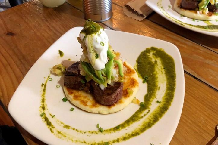 Arepa at Lulo Cafe Bar, Santa Marta