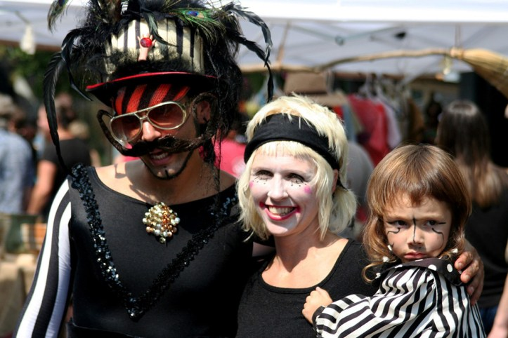 Festive family at the LAAFF, Asheville