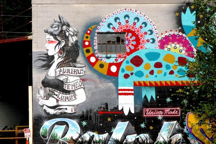 River Arts District mural, Asheville