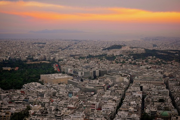 Sunset from the Lycabettus Hill, Athens