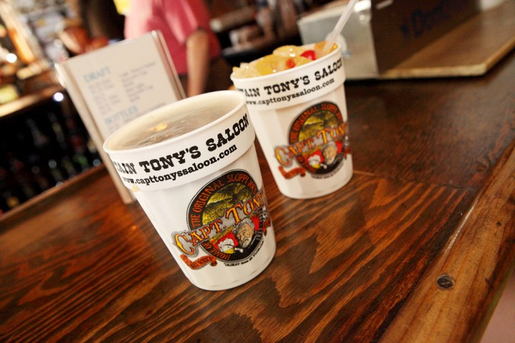 Beer and Rum Punch at Captain Tony's Saloon, Key West