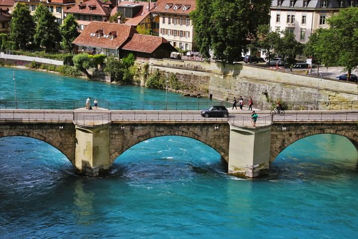 The Aare River Bridge, Bern