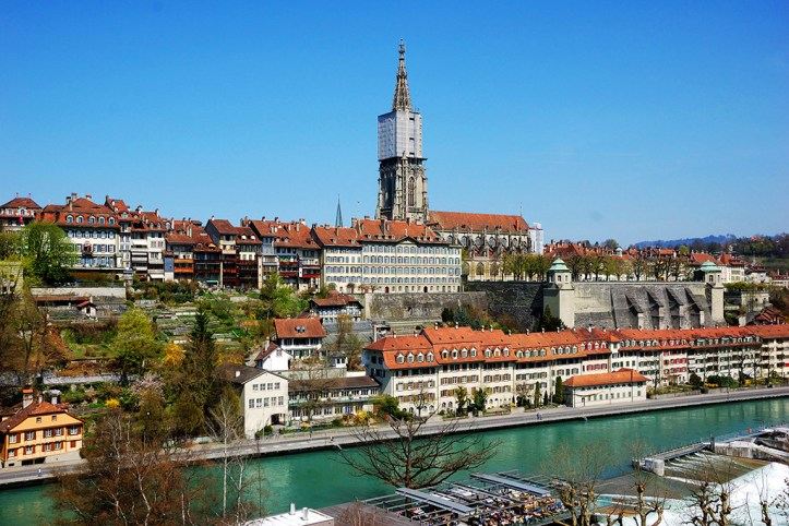 View of the Münsterplattform and the Cathedral, Bern