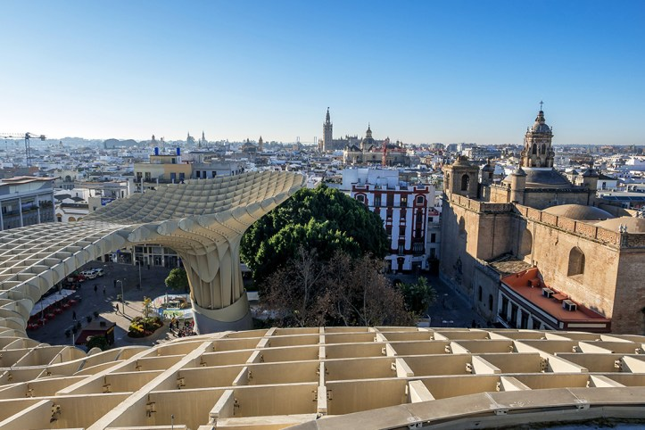 View from Metropol Prasol, Seville
