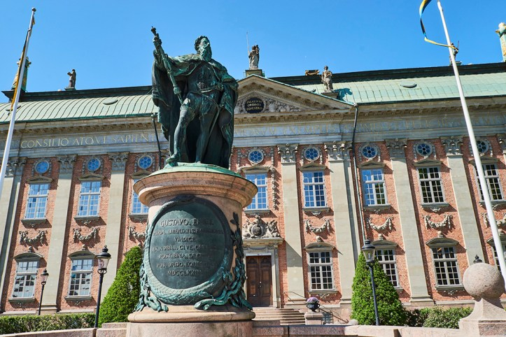 Statue of Gustav Vasa in font of the Riddarhuset, Stockholm
