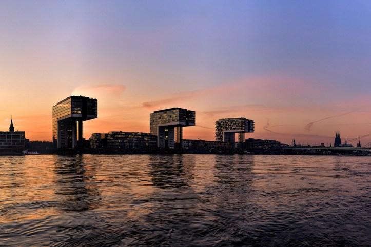 Rhine at sunset