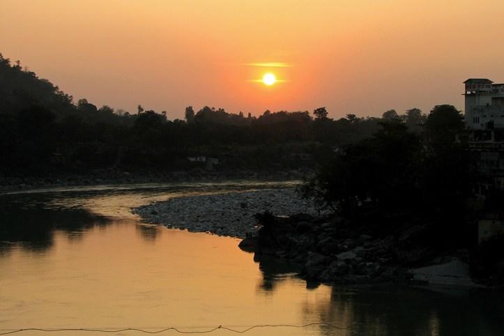 Sunset over the Ganga, Rishikesh