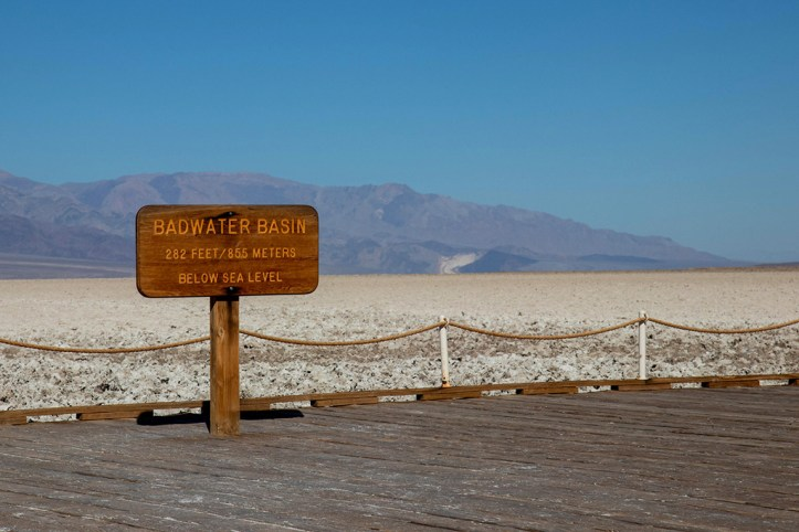 Badwater Basin Sign, Death Valley