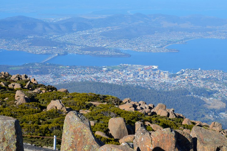 View of Hobart from Mt. Wellington