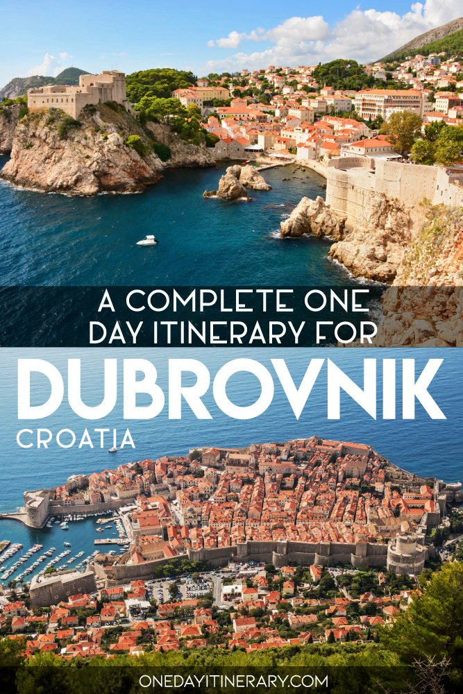 A complete one day itinerary for Dubrovnik, Croatia