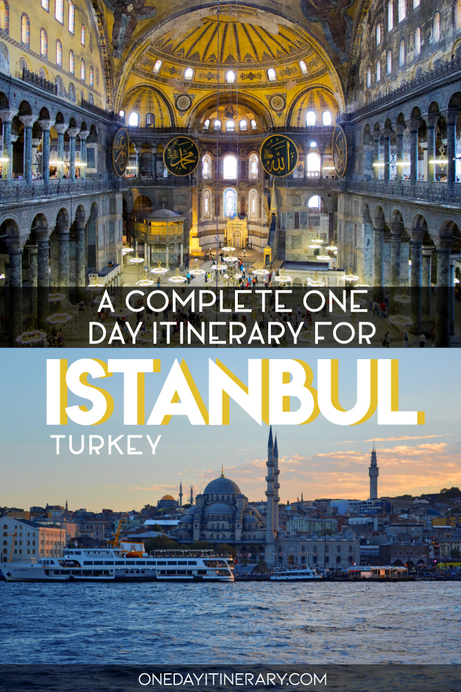 A complete one day itinerary for Istanbul, Turkey
