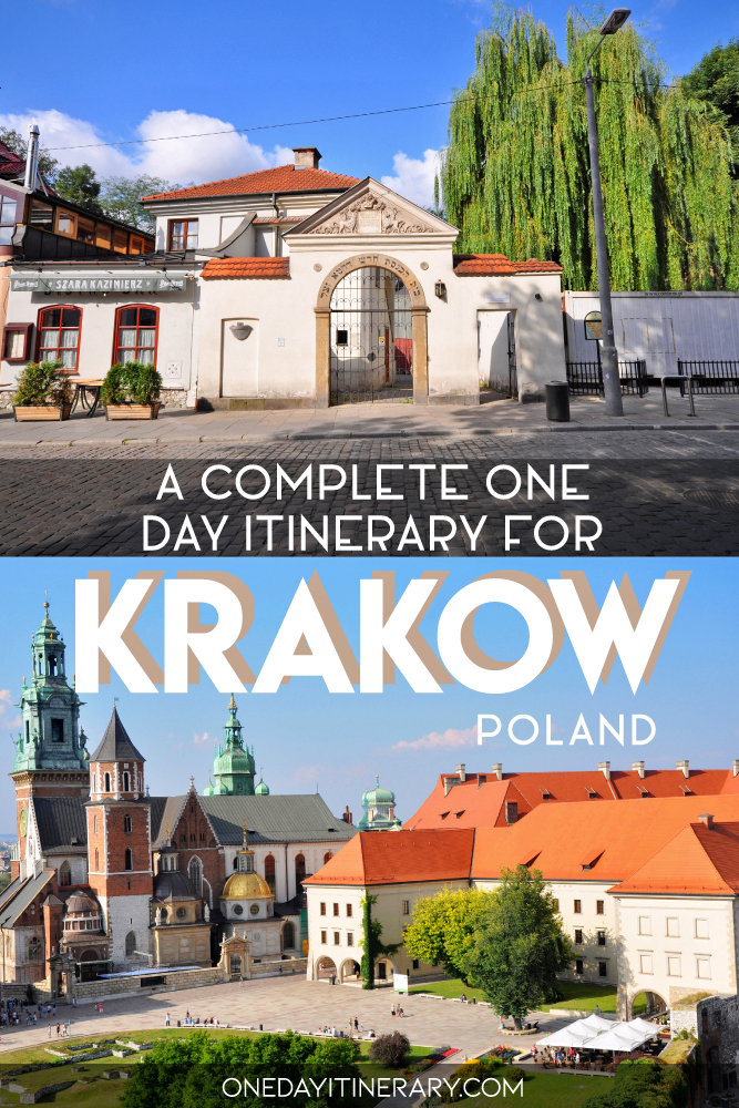 A complete one day itinerary for Krakow, Poland