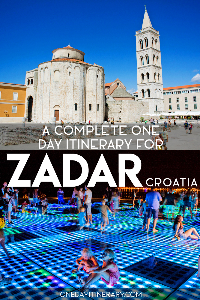 A complete one day itinerary for Zadar, Croatia