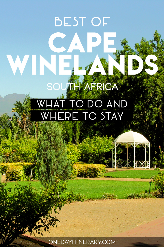 Best of Cape Winelands, South Africa - What to do and where to stay