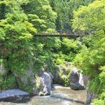 鳩ノ巣渓谷と吊り橋
