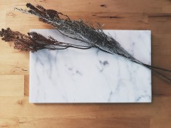 Rectangular marble board (S$58)