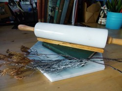 Marble rolling pin in white (S$53)
