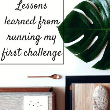 Lessons learned from running my first challenge