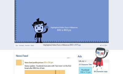 Infografía: Guía para el usar la medidas correcta de imágenes en Facebook