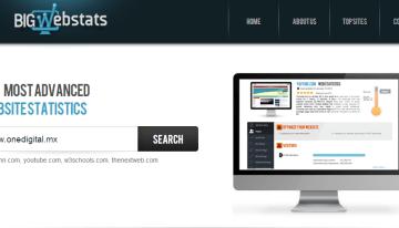 Bigwebstats.com: herramienta que muestra las estadísticas de cualquier sitio web