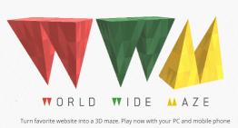 World Wide Maze, lo nuevo de ChromeExperiments.com, transforma tu sitio web en un juego 3D