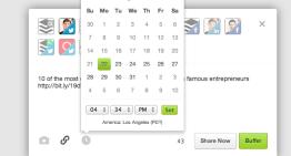 Buffer ahora permite publicar en redes sociales en una fecha y hora específica