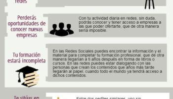 f64b29da5a Infografía  10 razones para usar las redes sociales en la búsqueda de empleo