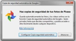 Google+ Auto Backup para escritorio nos permite hacer copias de nuestras imágenes y vídeos