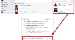 Facebook experimenta una nueva característica de Páginas Populares en tu Área