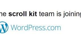 Scroll Kit es adquirido por WordPress