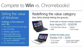 Chromebooks tendrán competencia directa de equipos con Windows a precio reducido
