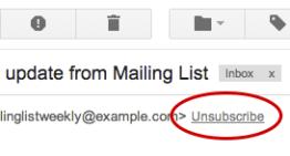 Gmail simplifica el proceso para darse de baja de boletines, promociones y listas de distribución de emails