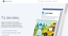 Facebook actualiza su Términos y Condiciones del servicio y presenta Privacy Basics