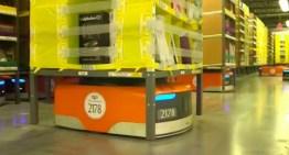 Así funcionan los robots Amazon en un día de máximo trabajo