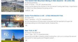 La búsquedas de YouTube ya indica los videos que tienen resolución 4K