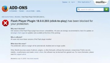 Mozilla bloquea el plugin de Adobe Flash Player