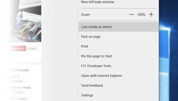 Microsoft Edge podrá reproducir contenido multimedia en tu TV mediante Media Casting