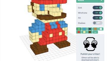 Voxel Builder, sitio para diseña modelos pixel art que posteriomente se pueden imprimir y ensamblar