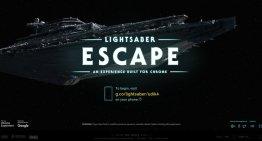 Lightsaber Escape, el experimento de Google que transforma tu celular en un sable de luz