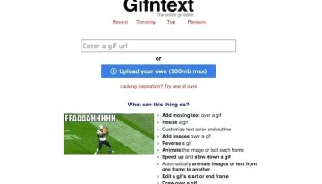 Gifntext, sitio web para añadir texto en movimiento sobre cualquier gif animado