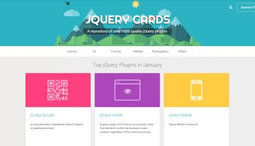 jquerycards.com, sitio con una amplia colección de plugins para quien trabaja con jquery