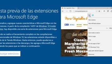 Microsoft presenta las primeras extensiones del navegador Microsoft Edge